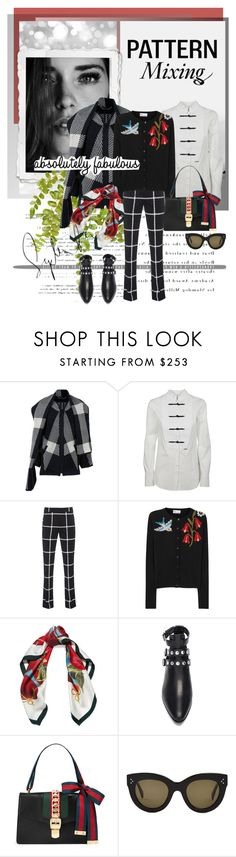 """""""absolutely fabulous...."""" by pam0713 ❤ liked on Polyvore featuring Barbara Bui, Dsquared2, Steffen Schraut, RED Valentino, Dolce&Gabbana, Yves Saint Laurent, Gucci, CÉLINE and patternmixing"""