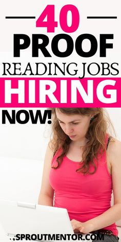 Are you new to online jobs? Here are 40 proofreading jobs for beginners. Read these proofreading tips and proofreading training and learn how you can make extra cash with these work from home jobs and part time jobs side hustles. Work From Home Careers, Legitimate Work From Home, Work From Home Opportunities, Work From Home Tips, Jobs For Teens, Jobs For Women, Reading Jobs, Make Money Online Surveys, Best Online Jobs