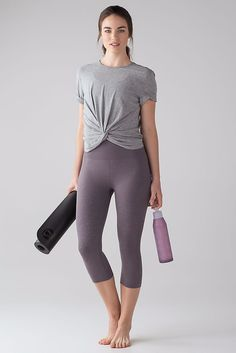 Taryn Toomey's guide to fitness fashion: Lululemon Free to Flow Crop Leggings $69