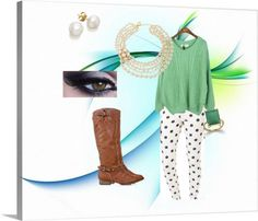 """""""COLOR- GREEN"""" by skoonce on Polyvore"""