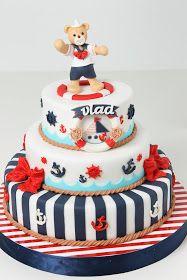 Torturi - Viorica's cakes: Tort botez navy pentru Vlad