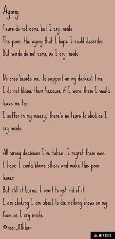 Sad poem Sad Poems, Inside Me, Crying, Sheet Music, Math Equations, Words, Music Sheets, Horse