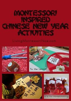 Montessori-Inspired Chinese New Year Activities - lots of ideas for home or classroom