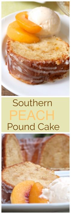 Southern Peach Pound Cake Pound cake with sweetened condensed milk is a rich and delicious dessert with an old fashioned sweet vanilla taste. The homemade southern treat is perfect for Christmas or any holiday. Mini Desserts, Just Desserts, Dessert Recipes, Plated Desserts, Oreo Dessert, Eat Dessert First, Peach Pound Cakes, Peach Cake, Pound Cake Recipes
