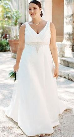 Gorgeous dress for the full figured bride