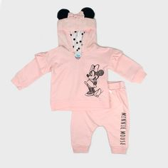Baby Girls' Disney Mickey Mouse & Friends Minnie Mouse Hooded Sweatshirt And Kangaroo Pocket Joggers Set - Pink : Target Disney Baby Clothes, Cute Baby Clothes, Disney Outfits, Girl Outfits, Barbie Outfits, Disney Girls, Baby Disney, Disney Mickey, Minnie Mouse Sweatshirt