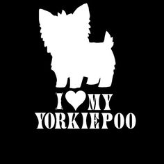 I Love My Yorkie poo 3 Decal Window Car Sticker by theCustomDecals