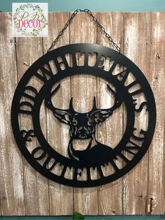 PK Decor offers a large variety of door hangers and acm metal monogram decor. We make decorating your front door or gift giving easy with lots of home decor! Rustoleum Spray Paint, Gifts For Hunters, Custom Metal, Deer Antlers, Steel Metal, Personalized Signs, Door Signs, Painting On Wood, Composite Material