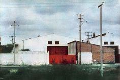 Bernard Plossu. Somewhere, 1981. Les images de cette série sont extraites du livre Plossu, Couleur Fresson, Théâtre de la Photographie et de l'Image / Nice Musées, 2007