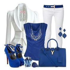 Blue and white like it!