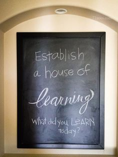 'establish a house of learning' 'what did you learn today?' i like how this looks, and that it could remind us to always be learning Family Home Evening, Family Night, Family Scripture, Lds Scriptures, Prayer And Fasting, Spiritual Disciplines, Thing 1, Kids Church, Relief Society