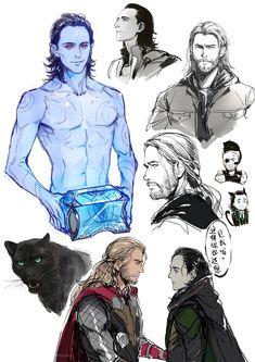 Thor X Loki, Loki Art, Loki Avengers, Marvel Dc Comics, Marvel Avengers, Marvel Films, Marvel Characters, Loki Jotun, Loki God Of Mischief