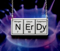 Periodic table elements necklace.  #geek #fashion