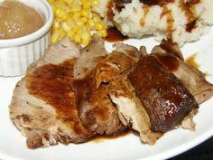 Yummy Roasted Pork Butt with Gravy @ The Cookbook Junkie Blogspot