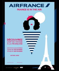 affiche air france is in the air