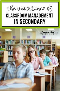 The Importance of Classroom Management in the Secondary Classroom - 2 Peas and a Dog Education Quotes For Teachers, New Teachers, Elementary Education, Education Logo, Middle School Classroom, English Classroom, English Teachers, Art Classroom, Classroom Behaviour