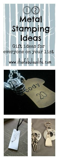 12 metal stamping ideas + 2013 Best of Bloggers Gift Guide Giveaway: Beaducation! - It's A Fabulous Life