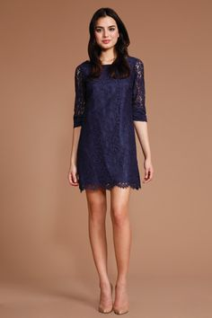 Shoshanna Dresses Navy Lace Patricia such a beautiful lace dress