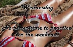 No better time to practice for the weekend! Wednesday Coffee