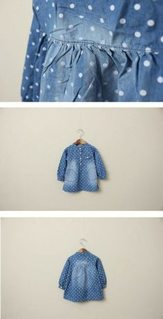 Dotted Denim Dress  Color Me WHIMSY.