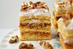 Prajitura Petre Roman - Retete culinare by Teo's Kitchen Roman Food, Yummy Cookies, Petra, Vanilla Cake, Tiramisu, Fondant, Caramel, Sweet Tooth, Sweets