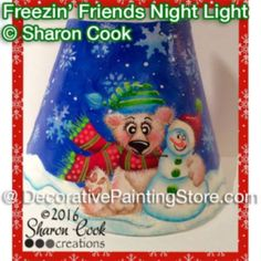 Freezin Friends Night Light ePattern - Sharon Cook - PDF DOWNLOAD