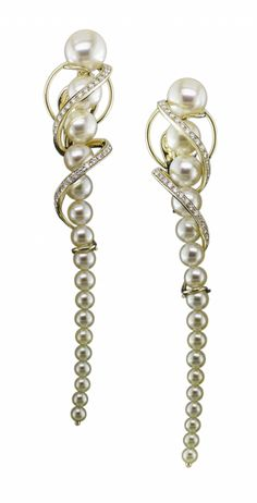 'Twist' collection: Akoya pearls and diamonds