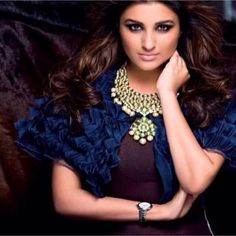 So beautiful parineeti chopra Parineeti Chopra, Beautiful Bollywood Actress, South Actress, Bollywood Celebrities, Indian Girls, Indian Actresses, Crochet Necklace, Ruffle Blouse, Actors