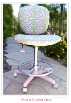 Ucreate: Creative Guest: Office Chair Makeover Tutorial by To Be Charmed