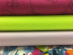 Brighten up your week with this colorful combination of muslins! #organiccotton #wovens #sewingfun #sustainable