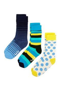Assorted Print Socks - Pack of 3