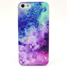 The Milky Way Pattern Hard Case for iPhone 5/5S  – USD $ 3.99