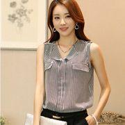 俐落直條紋絲質襯衫 Very stylish Asian fashion Asian Fashion, Top Sales, Stylish, Tops, Women, Women's