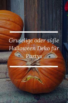 Gruselige oder süße Halloween Deko für Partys Partys, Halloween Decorations, Creepy, Pumpkin, Zombies, Facebook, Blog, Skeletons, Scary Halloween