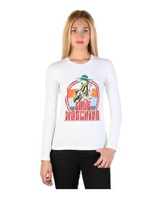 T-shirt, long sleeves - 100% cotton - wash at 30° - italian size - T-shirt women White
