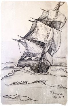 """Skip"" / ""Ship"", Scetch by Johannes, 20/11/2013. Medium: Pen & Pencil on Paper."
