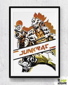Overwatch Junkrat print/poster by PopArcade on Etsy