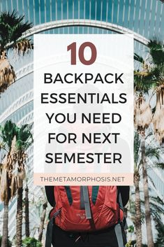 Ready to start your back to school shopping? Here are 10 backpack essentials college students can't forget! College Freshman Tips, College Nursing, Freshman Year, College Fun, College Life, College Students, College Hacks, College Graduation, College School Supplies