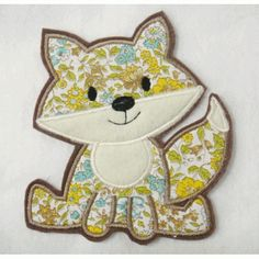 Fox Applique Embroidery Design  has a matching feltie