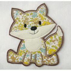 Fox Applique Embroidery Design  has a matching feltie