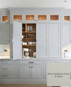 10 Timless Grays for the Kitchen. Paint Color/ Helen Turkington Paints-St. Remy. Designer/ Woodale Cabinets