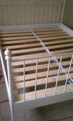 Cheaply Build Your Own Bed Slats For Ikea Bed Full Bed Is 54 Wide Ikea Bed Slats Ikea Bed Bed Slats