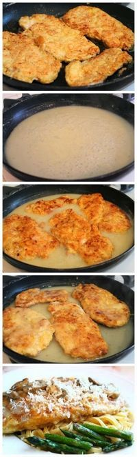 Chicken Francaise Francese Egg battered chicken Use this one. Easy and delicious. Pan fry lemon rings before like Tyler F. Recipe