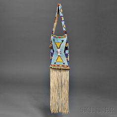 Crow Beaded Hide Mirror Bag | Sale Number 2879B, Lot Number 27 | Skinner Auctioneers