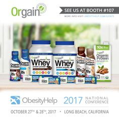 We are pleased to announce Orgain as an Exhibitor for the #OH2017 ObesityHelp National Conference! http://www.obesityhelp.com/events  Clean, organic protein is the engine of all Orgain products. They use USDA Organic, Grass-Fed Whey, and milk protein concentrates. Not only are all Orgain products USDA-Certified Organic, but they're also Gluten Free, Soy Free, Non-GMO, and free of all artificial colors, flavors, and preservatives. All Orgain products are made in the USA!