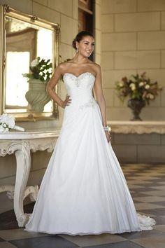 White/Ivory chiffon Bridesmaid Bridal Gown Wedding Dress Size 6+8+10+12+14+16+++