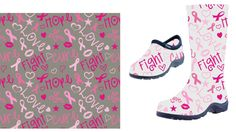 Design a Breast Cancer Awareness Repeating Shoe Print! by QPR