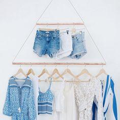 14 DIY pour fabriquer un portant à vêtements