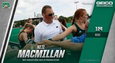 Congrats to 12th-year OHIO University Field Hockey head coach NEIL MACMILLAN on picking up his 124th career win today -- most in program history! #BleedGreen 9/11/16