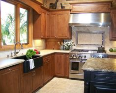 Natural Stone Backsplash Design, Pictures, Remodel, Decor and Ideas - page 20
